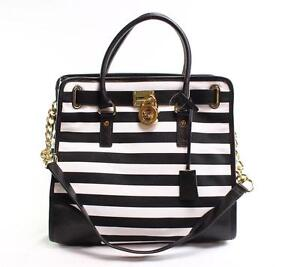Black And White Striped Bags