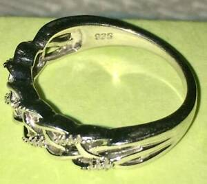 Gorgeous as new Micheal Hill Jewelers sterling silver diamond Infinity