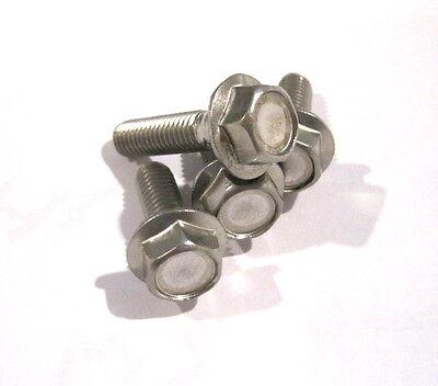Купить MJM National - Metric Stainless Flange Bolt A2 M8x20 mm  Pkg of 10.
