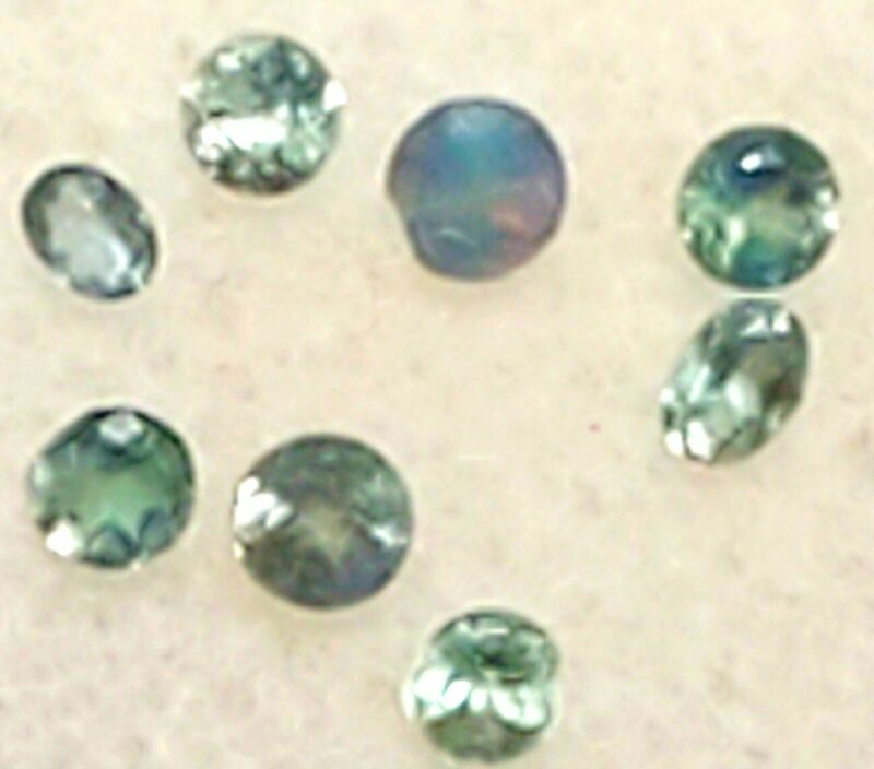 Rare 8 Natural Alexandrite loose Round & Oval Cut Faceted Gemstones Collection