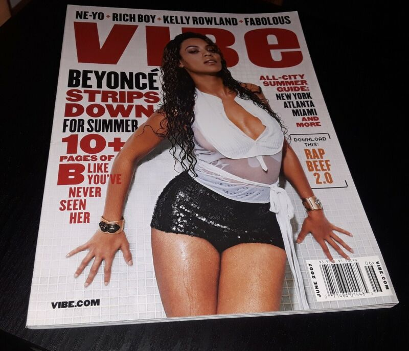 BEYONCE VIBE MAGAZINE COVER 😍 RARE OOP SEXY HOT MINT Vintage JAY Z  THE SOURCE