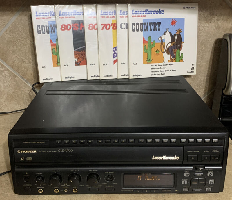 Rare Pioneer CLD-V720 Laserdisc Player Karaoke Tested Works With 6 disc's