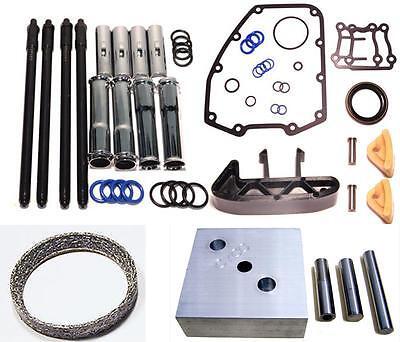 Tensioner Service Kit Harley Twin Cam Adjustable Pushrods Gaskets Tubes Tool