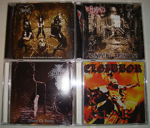 4-CD-LOT-CHRISTIAN-BLACK-DEATH-METAL-UNBLACK-ELGIBBOR-HORTOR-REHUMANIZE