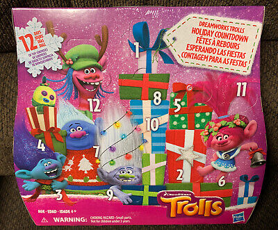 Brand New Sealed Trolls DreamWorks Holiday Countdown Advent Calendar Prize Box