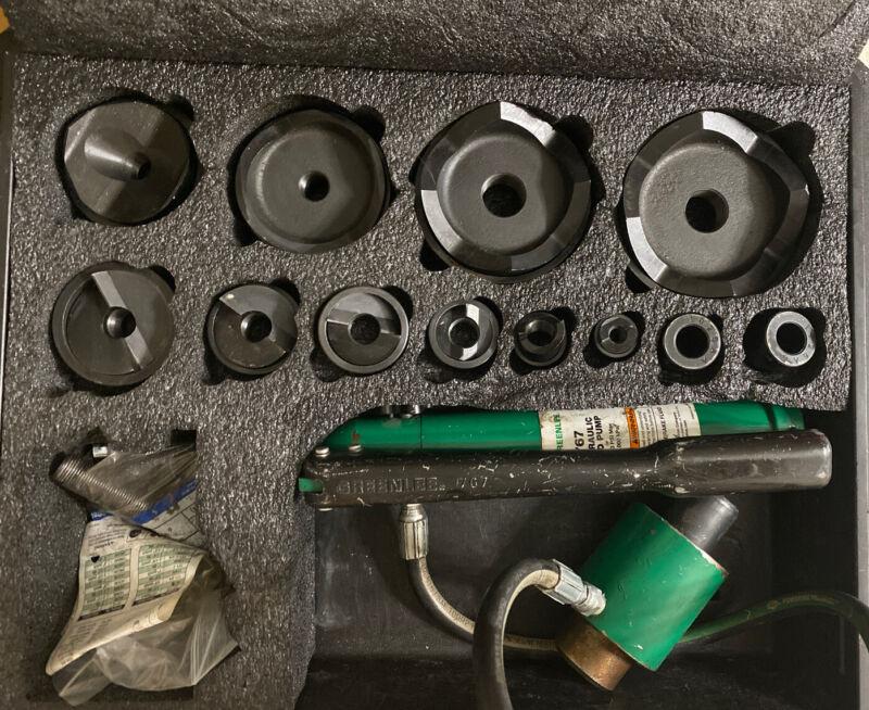 """NICE Greenlee 7310SB ½""""-4"""" Hydraulic Slugbuster Knockout 767 Pump"""