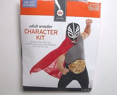 NWT NEW Halloween Costume Men's Adult Wrestler Character Kit One Size Kit - Wrestler Halloween Costume