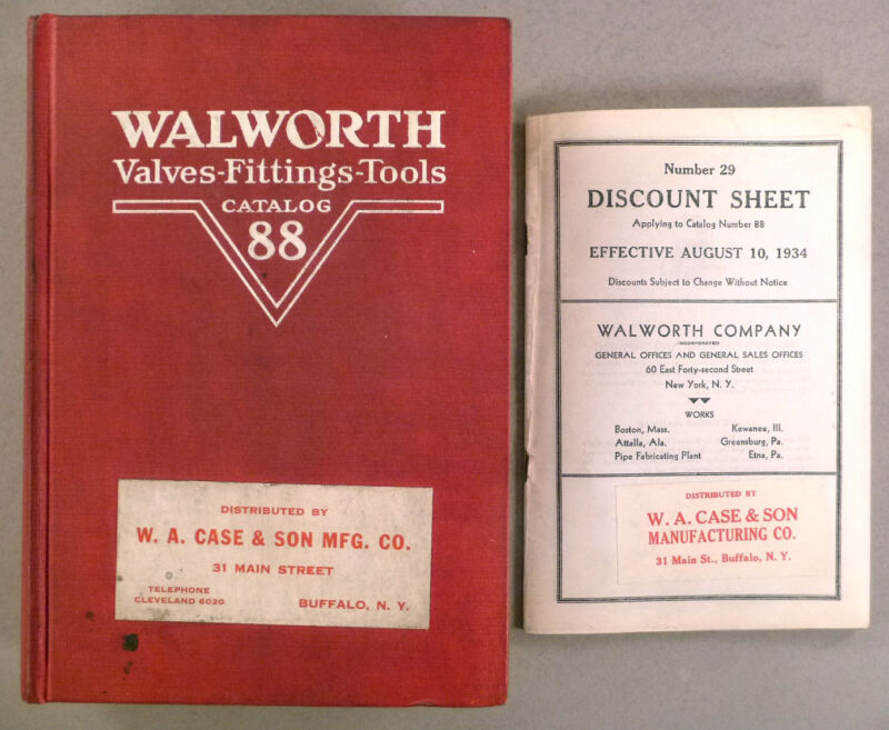 Walworth CATALOG #88 - 1930 -- plumbing valves, fittings, tools ~~ 750 pages