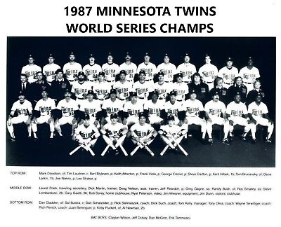 1987 World Series Teams - 1987 MINNESOTA TWINS 8X10 TEAM PHOTO BASEBALL PICTURE MLB WORLD SERIES CHAMPS
