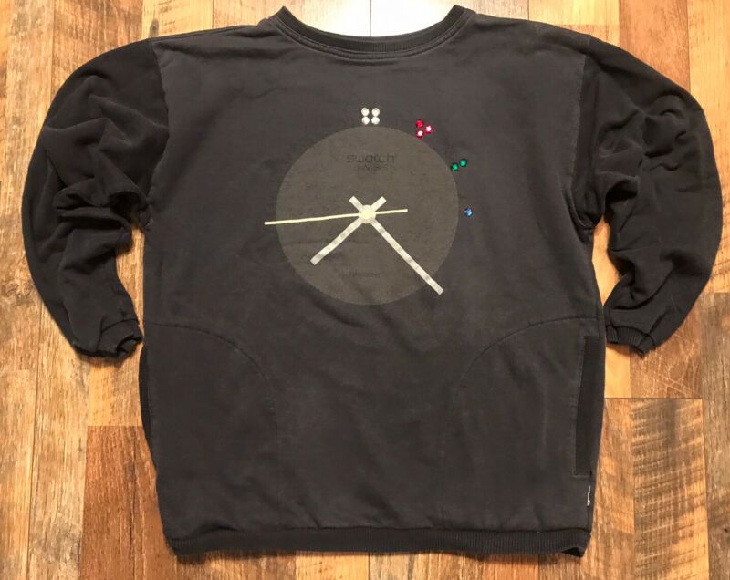 Vintage SWATCH Watch Sweatshirt Gray w/ Pockets 1980