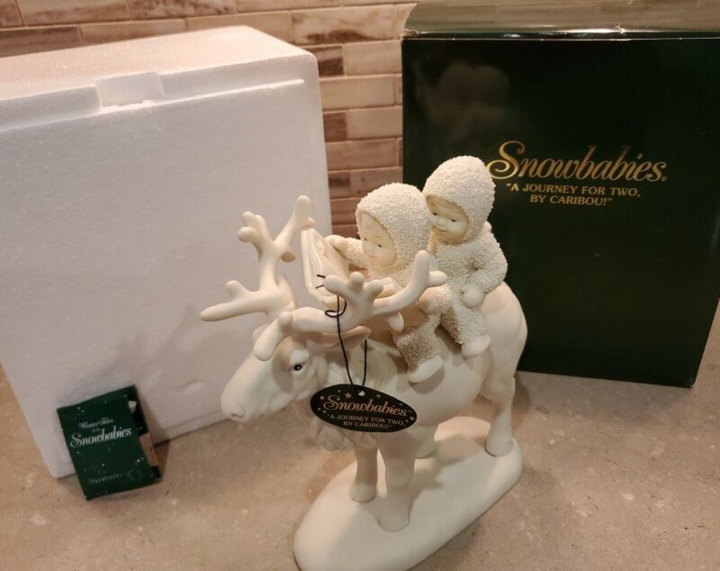 Dept 56 Snowbabies A Journey For Two by Caribou #68881 w/ Box