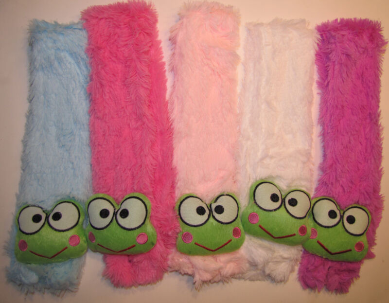 New Girl Kid Toddler winter Scarf  plush faux fur frog warm  scarf 4 colors