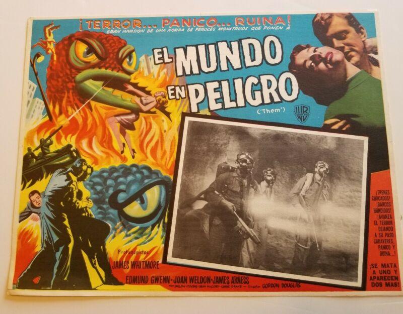 THEM 1954 Mexican Original Movie Lobby Card Sci-Fi Horror RARE