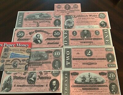 Compound Interest Treasury Notes Set Reproduction US Currency Paper Money Copy