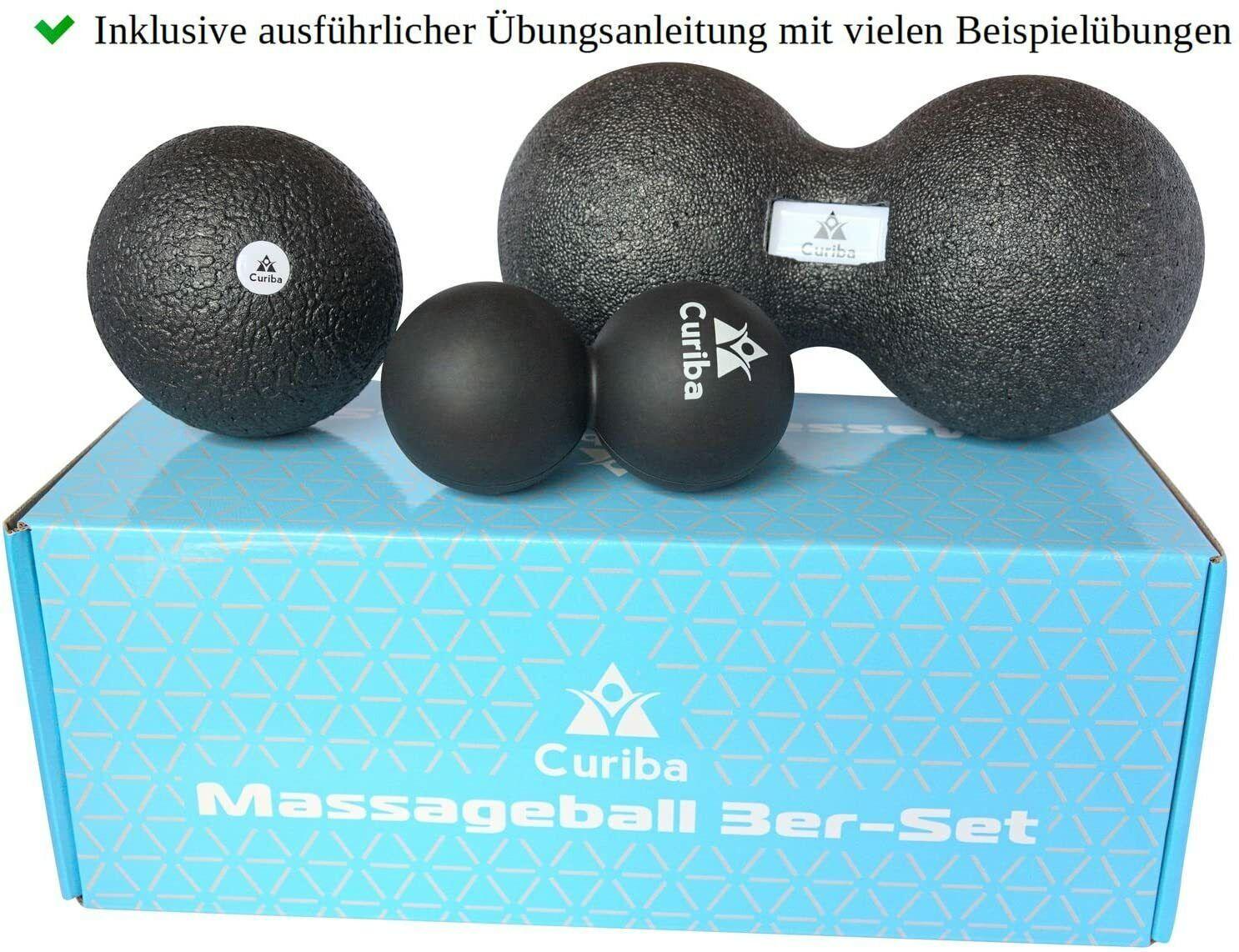 Curiba Faszienbälle Massagebälle - Einzelball, Duoball, 3er-Set