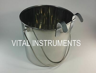Stainless Steel Bucket Pail Flat Sided 4 Qt Dog Pup Kennel Farm Feed Box Of 12