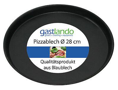 10 Stück Pizzablech Profiqualität Flammkuchenblech rund Ø 28 cm Gastlando