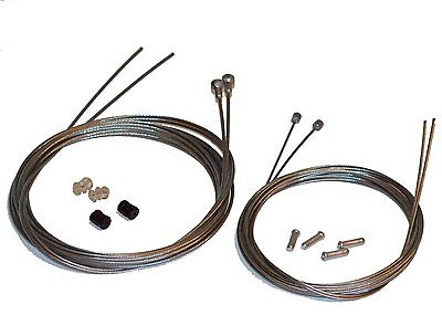 Stainless Steel Road Bike Cable Set. Brake and Gear Inners, Crimps etc. Clarks.