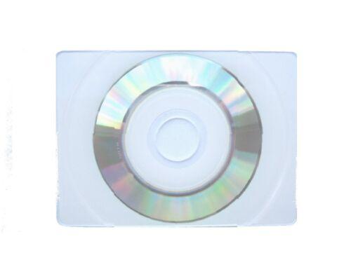 100 BUSINESS CARD BIZCARD CD CD-R & POLY SLEEVE , WHITE INKJET PRINT JS404/JS18L