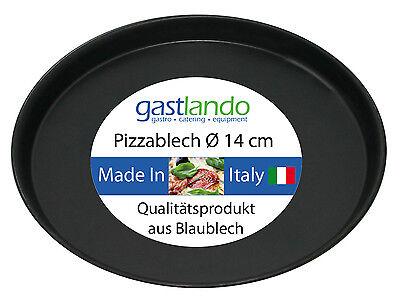 10 Stück Pizzablech Profiqualität Flammkuchenblech rund Ø14 cm Gastlando