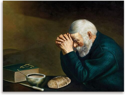 Print -  Grace by Eric Enstrom; Daily Bread Man Praying At Dinner