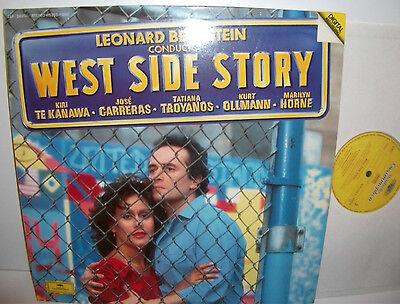415 253-1 Leonard Bernstein Conducts West Side Story Te Kanawa Carreras 2LP