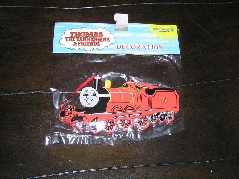 NIP NEW Rare Thomas the Tank Engine Train Wooden Christmas Tree Ornament James