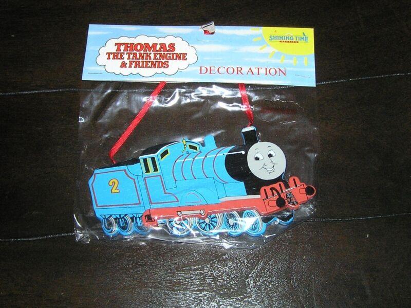 NIP NEW Rare Thomas the Tank Engine Train Wooden Christmas Tree Ornament Edward