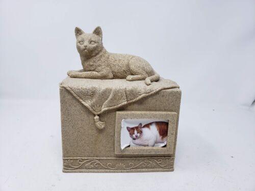 AngelStar Pet Urn for Cat, Dark Brown
