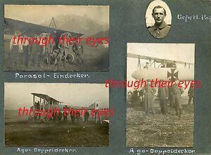 DVD SCANS  WW1  PHOTO ALBUM  GERMAN WW1 PLANES  FELDFLIEGER ABTEILUNG 9B  c 1915