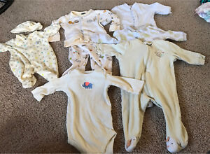 0-3 month gender neutral outfits