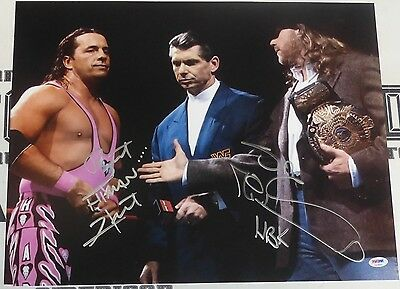 HWC Trading FR Vince McMahon Gift Signed FRAMED A4 Printed Autograph WWF WWE Chairman CEO Wrestling Gifts Print Photo Picture Display