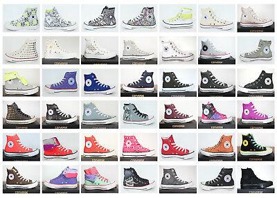 All Star Leder Hi Schuh (Neu All Star Converse Chucks Hi Leinen+ Leder Damen Schuhe Sneaker viele Modelle)