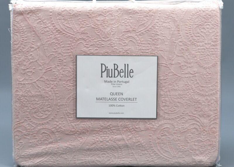 PIUBELLE DUSTY ROSE 100% Cotton JACQUARD PAISLEY MATELASSE Q