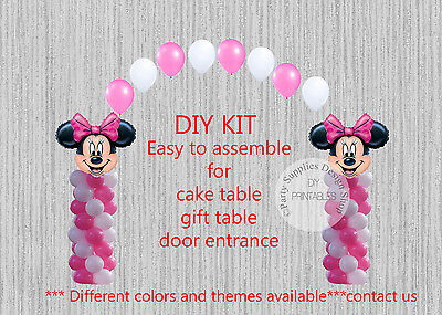 Pink Minnie Mouse BALLOON ARCH with COLUMNS Birthday Party Decorations ](Pink Minnie Mouse Decorations)