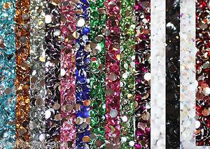 1000-Crystal-Flat-Back-Resin-Rhinestones-Gems-60-colors-2mm-3mm-4mm-5mm-6-5