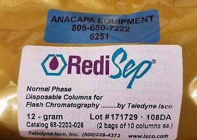 Teledyne Silica Rediseprf Normal Phase 12g Flash Chromatography 10 Column 6251