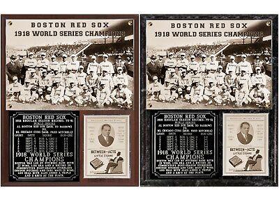 - Boston Red Sox 1918 World Series Champions Photo Plaque