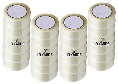 12 Rolls Carton Sealing Clear Packingshippingbox Tape - 3 X 110 Yards