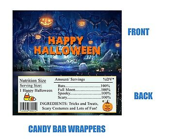Halloween Candy Bar wrappers, Halloween, Candy bar ideas, Halloween Party, Ghost - Halloween Bar Party Ideas