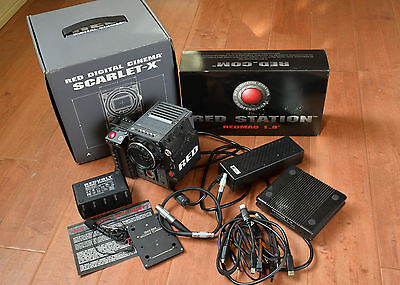 RED SCARLET-X DSMC 4K Cinema Camera  - 515 Hours EF LENS MOUNT w EXTRAS
