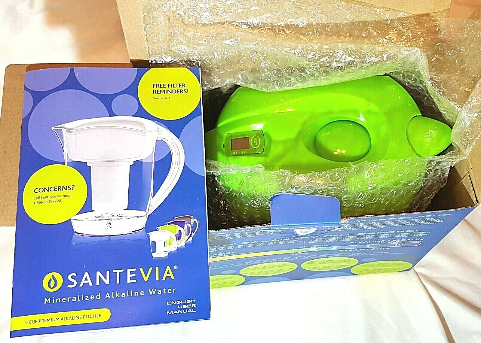 Santevia Water Systems Alkaline Water Pitcher, Green
