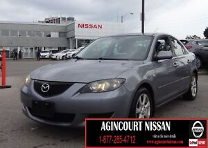 2005 Mazda Mazda3 GS LOW KM  AS-IS SUPERSAVER 