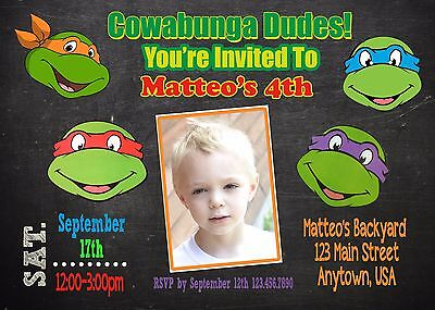 Teenage Mutant Ninja Turtle Invitation, TMNT, Invitations](Ninja Turtle Invitations)