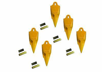 5 - Esco Style 18 Series Mini Excavator Backhoe Bucket Rock Teeth W Pin Kits