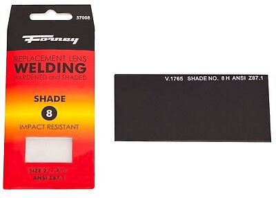 Forney 57008 Replacement Welding Safety Lens Uv-ab Eye Protector Shade 8