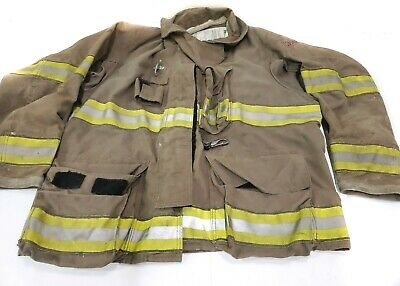 46x32 Dark Brown Globe Firefighter Jacket Turnout Gxtreme No Liner Jnl-15