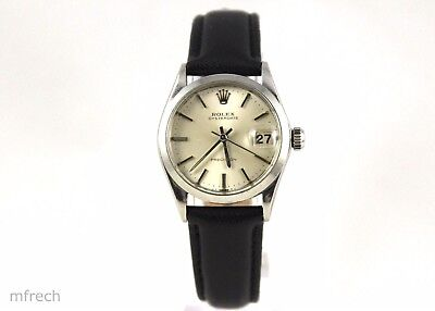 ROLEX OysterDate Manual Wind 31mm SS Watch 6466 (Runs - for Parts or Repair!)