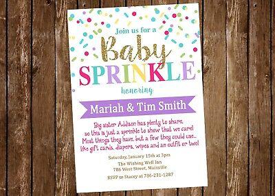 Baby Sprinkle Invitation, Sprinkles, Girl, Baby Girl, Invitation, Baby Shower](Sprinkle Baby Shower Invitations)