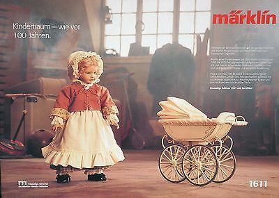 Märklin 1611 Puppenwagen und Heidi-Ott Puppe Neu aus Sammlung S